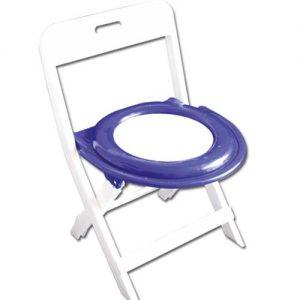 نمونه ای از صندلی توالت تاشو تمام پلاستیکی