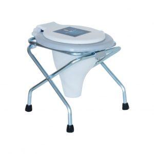 یک توالت ساده تاشو گالوانیزه مدل صحرایی