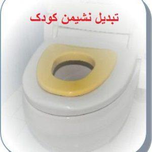 نمونه ای از تبدیل توالت فرنگی مخصوص اطفال