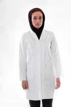 نمونه ای از روپوش سفید پرستاری زنانه مدل مدرسه