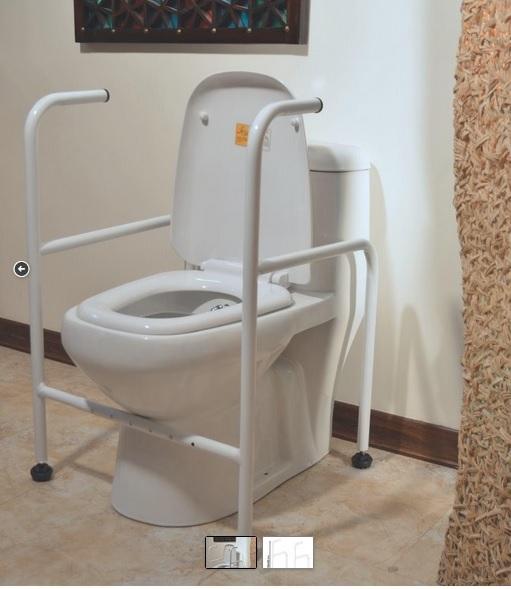 نمونه ای از چهارچوب فلزی محافظ توالت فرنگی