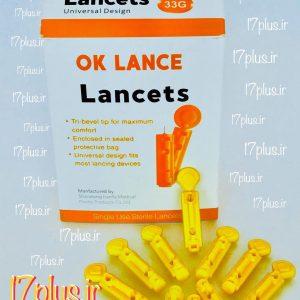 نمونه ای از سوزن چهارپر تست قند خون OK Lance